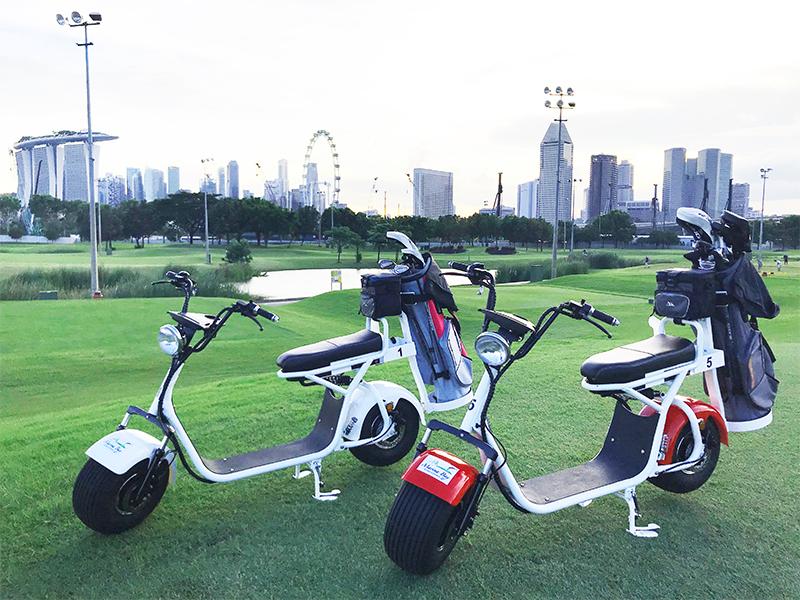 シンガポール マリーナベイゴルフ バイク